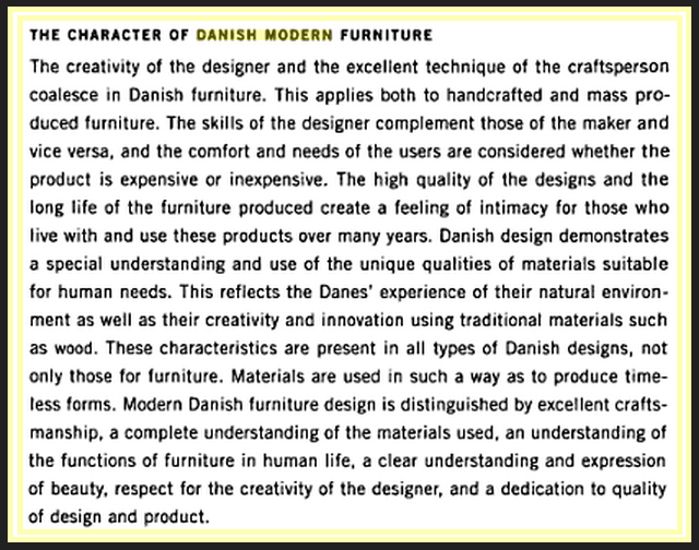 quote on Danish modern furniture design