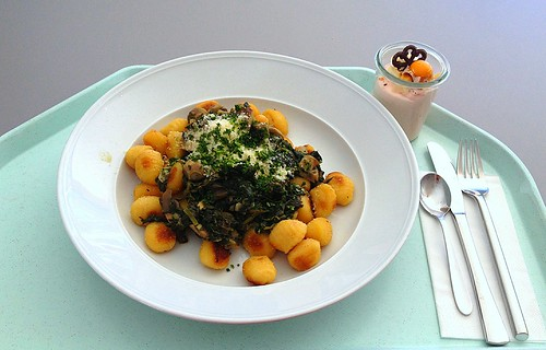 Gnocchi mit Spinat & Egerlingen