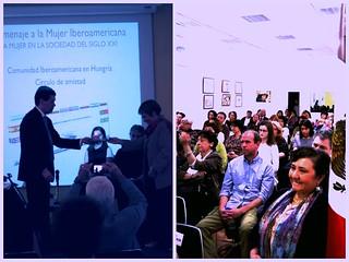 """Participación mexicana en el evento organizado por la comunidad Iberoamericana en Hungría-círculo de amistad, en """"Homenaje a la Mujer Iberoamericana"""""""