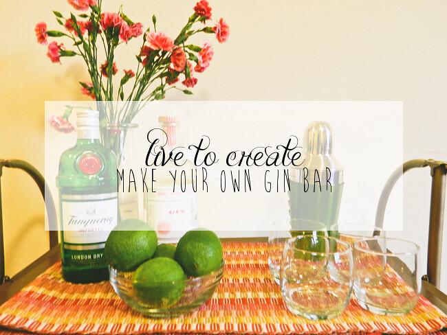 {DIY gin bar} via chevrons & éclairs