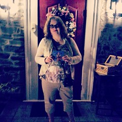 After the Livingston Taylor concert in front of the B&B. With my signed CD!