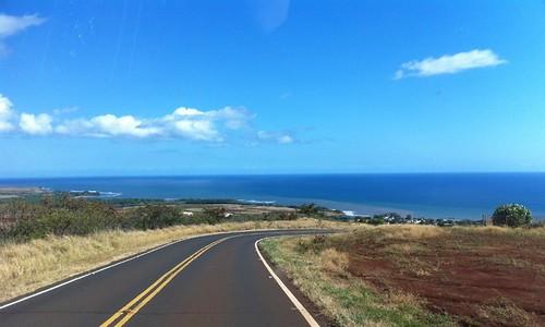 the road down from Waimea Canyon, Kauai