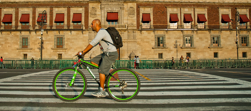 Mexico City Cyclist (City Clock)
