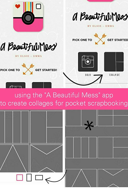 using a beautiful mess app for pocket scrapbooking // project life