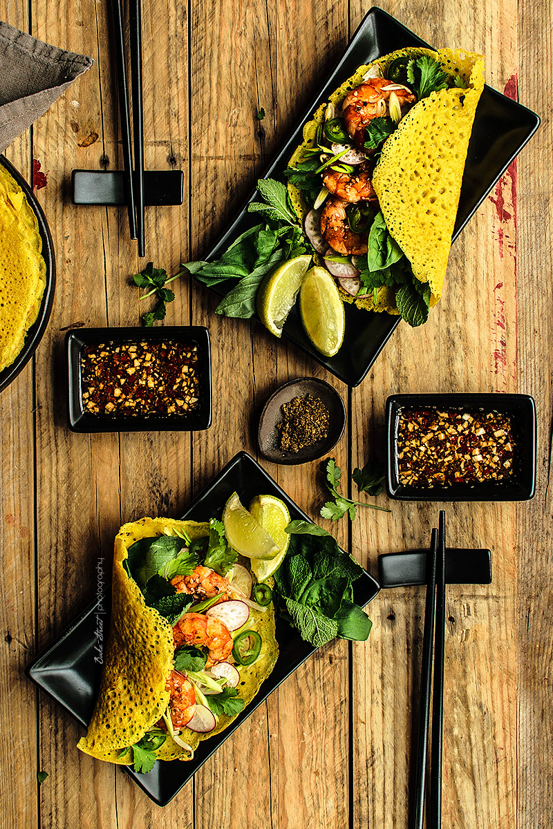 Bánh Xèo {Crepes vietnamitas}