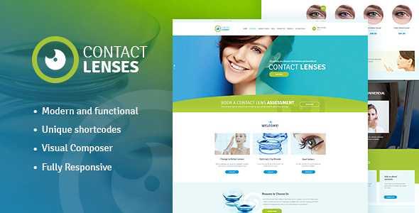 Contact Lenses WordPress Theme free download