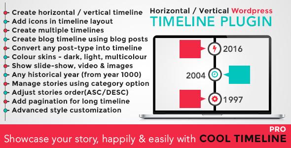 Cool Timeline Pro v2.6 – WordPress Timeline Plugin