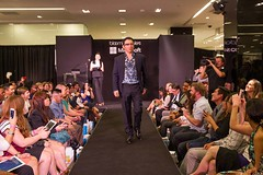 On the catwalk...wearing Google Glass for Microsoft & Bloomingdales #geek2chic
