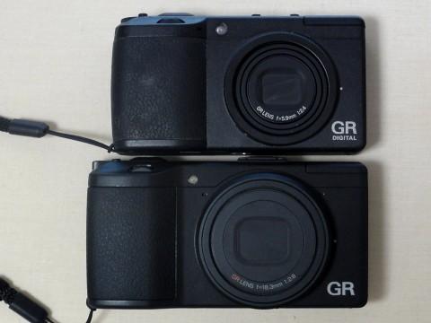 GR DIGITAL IIと新GRの比較