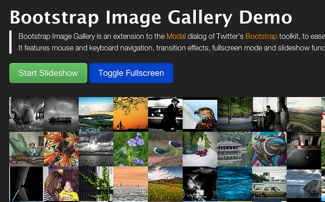 Bootstrap Image Gallery Demo