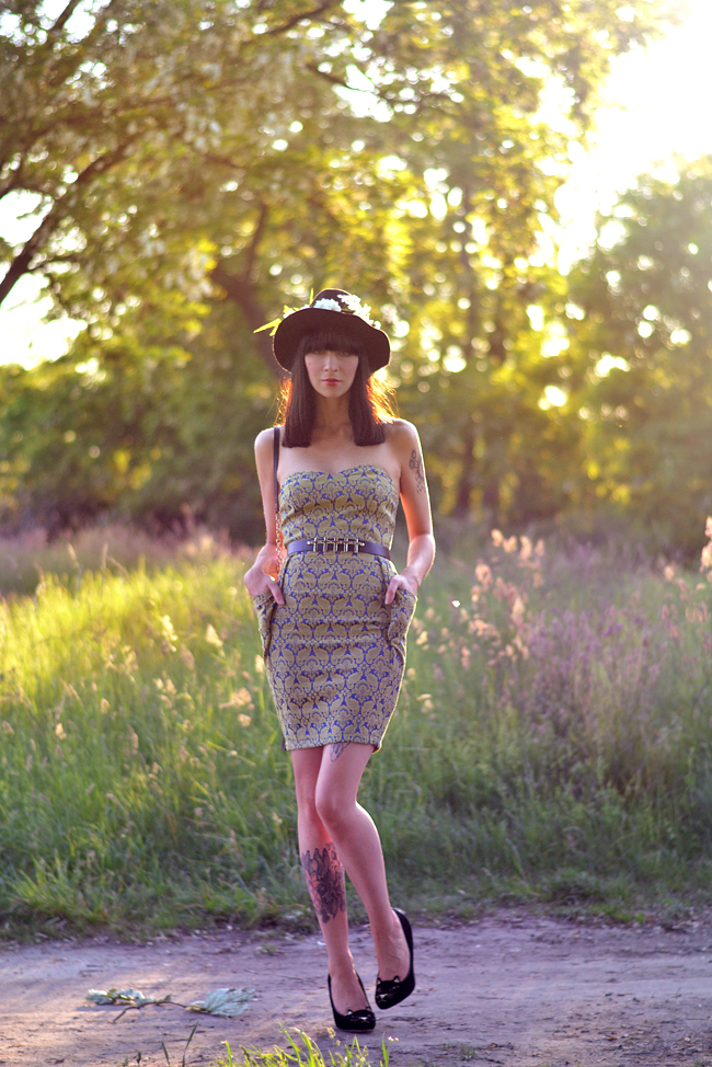 Outfit AX Paris baroque dress sunset 7