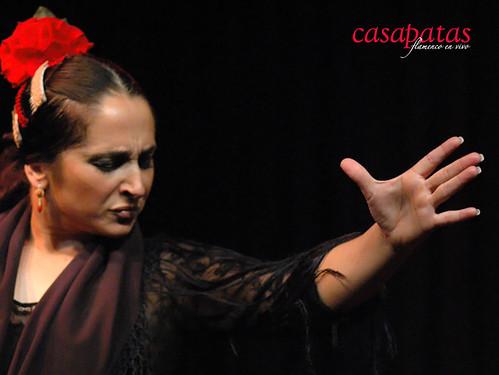 Almudena Serrano bailando en nuestro tablao. Foto: Martín Guerrero