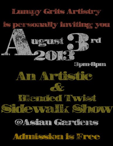 Lumpy Grits art show Aug 3 by trudeau