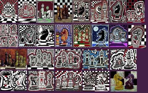 Chess art collage