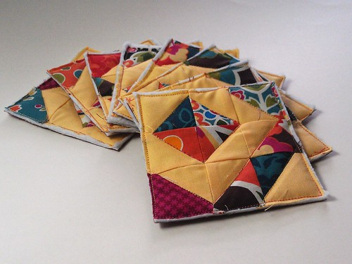 Pieced, backed, quilted.