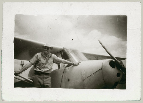 Man and aircraft