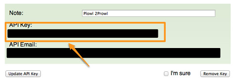 Prowl - API Keys-2