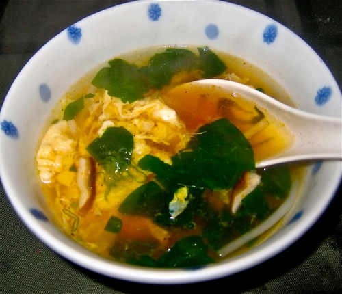 delicious spicy soup ends meal