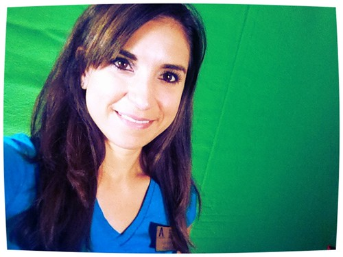 Green screen in the studio