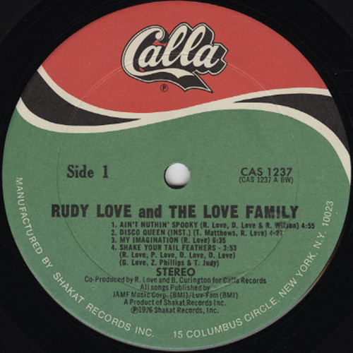 Rudy Love & The Love Family (1976) Sleeve