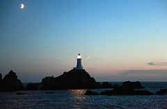 Crescent Moon Over La Corbiere