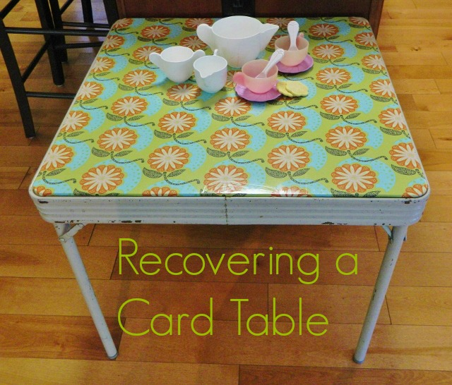 how to recover a card table