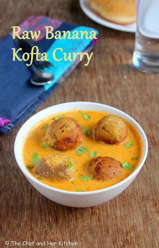 raw banana kofta curry