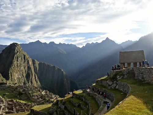 mountain machu picchu inca sunrise terraces machupicchu