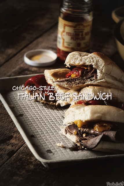Chicago Italian Beef Sandwich via GirlCarnivore.com
