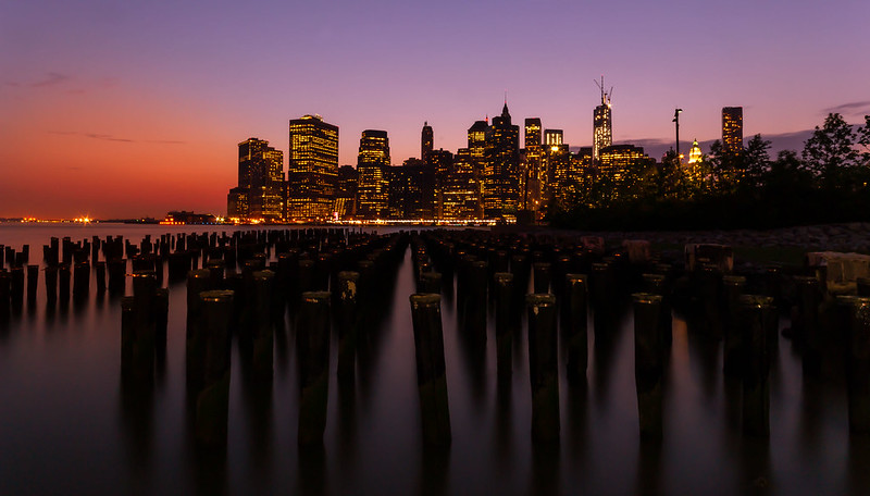Manhattan long exposure sunset