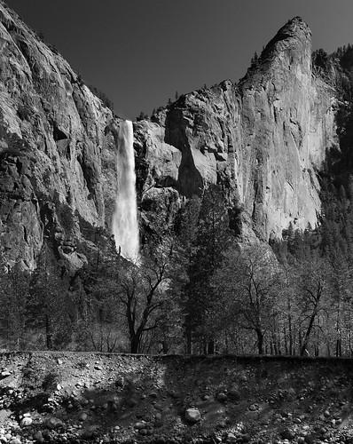 Bridal Veil Falls, exit road, Yosemite NP, CA