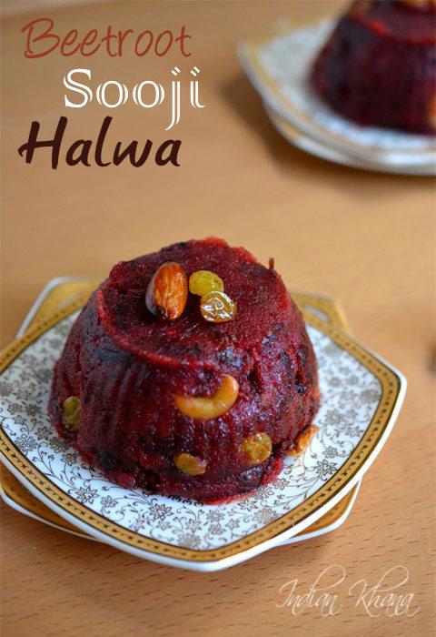 Beetroot Sooji Halwa