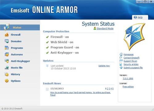Скачать Emsisoft Online Armor 7.0