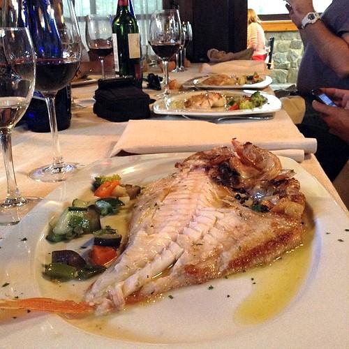Comida en Baquio de #BizkaiaCostaVasca (en Restaurante Eneperi)
