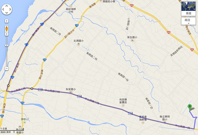自行開車路線圖 (由北南下)