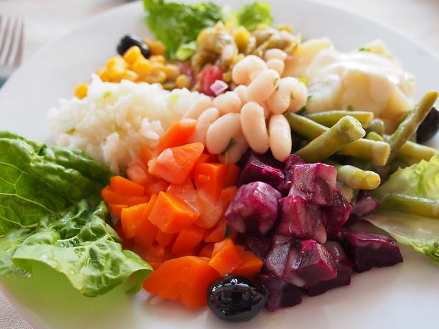 今日晚餐-生菜一盤