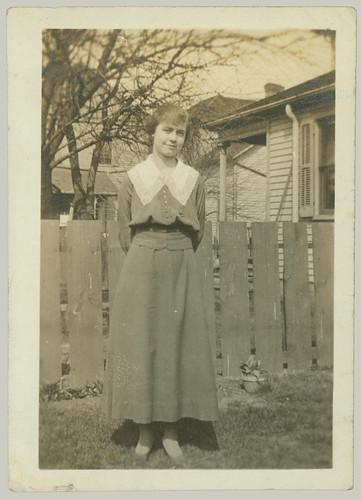Posing in the back yard