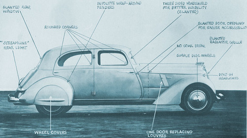 1934 Hupmobile Sedan sketch