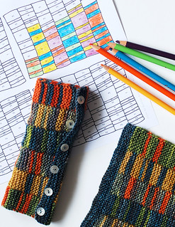 Color by Number Stripy Mitts