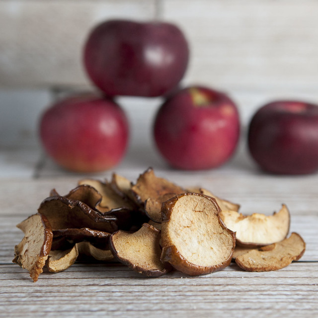 Baked Sea Salt Apple Chips are a delicious healthy alternative to potato chips! This is a great recipe for Fall apple picking season!