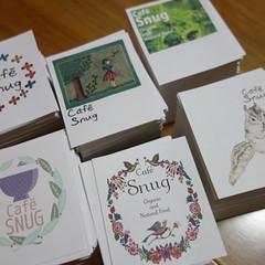 ショップカード作り。60種、2000枚ほど印刷した。