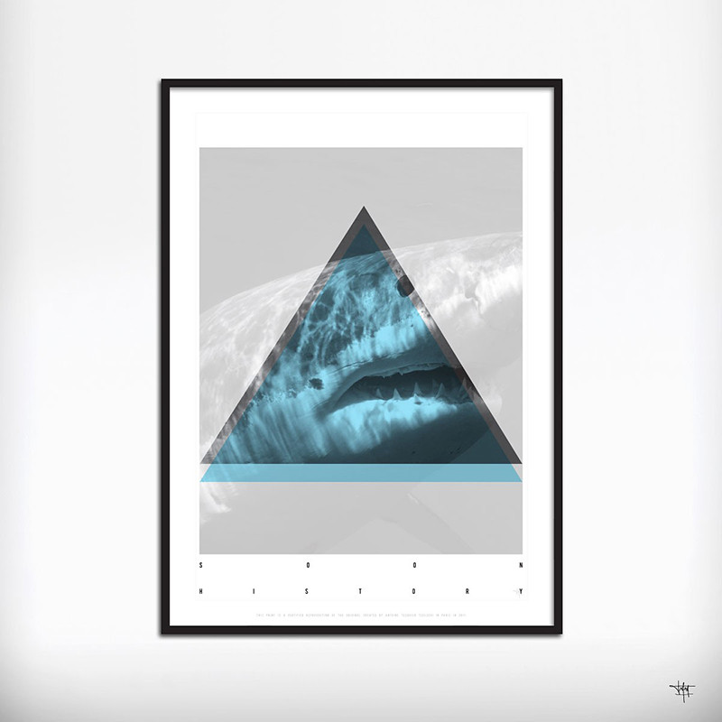 178aff527 WHITE SHARK SOON HISTORY Certified Art Print from original design by Antoine  Tesquier Tedeschi