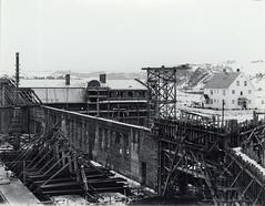 Under byggingen av vognhallen på Dalsenget / Professor Brochs gate 6 (1922)