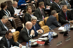 Secretary Kerry Chats With British Foreign Minister Hague