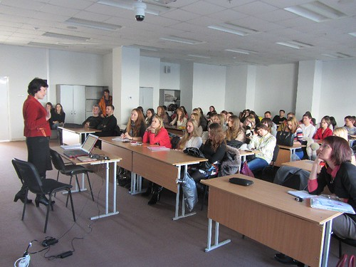 29 ноября 2013, Владивосток, ДВФУ, доцент ДВФУ Евгения Бутенина (1)
