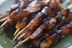 meal, grilling, barbecue, goat meat, food, dish, shashlik, cuisine, skewer, satay, grilled food,