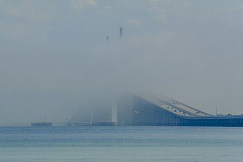 Marine Layer rolling through Sunshine Skyway Bridge - Timelapse 3/11