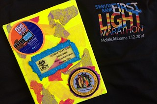 First Light Marathon plaque