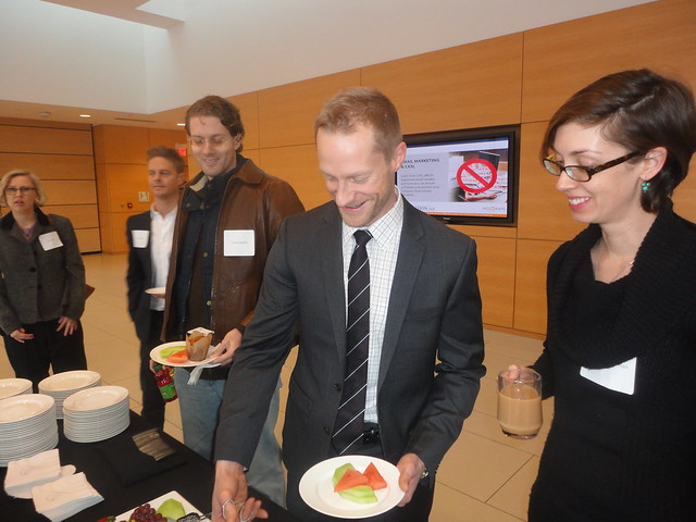 Shaun Brown breakfast with email marketing execs in Toronto