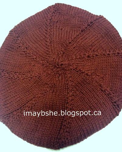 Spiral twist stitch beret